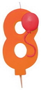 Creative Converting 104208 8 - Molded Numeral Candle with balloons (Case of 6)