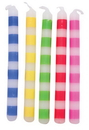 "Creative Converting 104211 Multicolor 2.5"" Striped Candles 20Ct (Case of 240)"