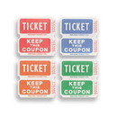 Creative Converting 132503 Ticket Roll - 50/50 Red/Bl/Or/Gr (Case of 20)