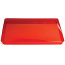 """Creative Converting 173419 Translucent Red 11.5"""" TrendWare Square Tray (Case of 6)"""