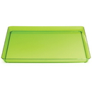 """Creative Converting 173431 Translucent Green 11.5"""" TrendWare Square Tray (Case of 6)"""