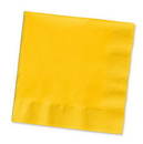 Creative Converting 251021 School Bus Yellow Beverage Napkin, 2 Ply, Solid Bulk (Case of 1200)