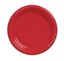 Creative Converting 28103111 Classic Red Luncheon Plate, Plastic Solid (Case of 240)