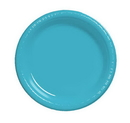 Creative Converting 28103911 Bermuda Blue Luncheon Plate, Plastic Solid (Case of 240)