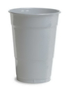 Creative Converting 28106081 Shimmering Silver Plastic Cups, 16 Oz Solid (Case of 240)
