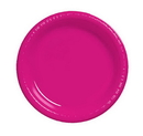 Creative Converting 28177011 Hot Magenta Luncheon Plate, Plastic Solid (Case of 240)