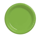 Creative Converting 28312311 Fresh Lime Luncheon Plate, Plastic Solid (Case of 240)