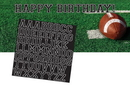 Creative Converting 296151 Tailgate Rush Giant Party Banner w/ Stickers (Case of 6)