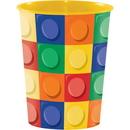 Creative Converting 315265 Block Party Plastic Keepsake Cup 16 Oz. (Case Of 12)