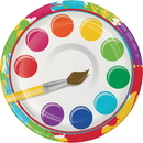 Creative Converting 317269 Art Party Luncheon Plate (Case Of 12)