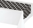 Creative Converting 317332 Décor Table Runner, Black/Wh (Case Of 12)