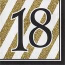Creative Converting 317537 Black & Gold Luncheon Napkin, '18 (Case Of 12)