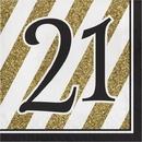 Creative Converting 317538 Black & Gold Luncheon Napkin, '21 (Case Of 12)