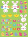 Creative Converting 319420 Easter Décor Easter Icons Stickers, CASE of 48