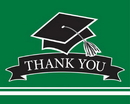 Creative Converting 320064 School Spirit Green Thank You Note, CASE of 75