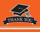 Creative Converting 320072 School Spirit Orange Thank You Note, CASE of 75