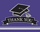 Creative Converting 320080 School Spirit Purple Thank You Note, CASE of 75