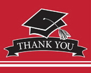 Creative Converting 320088 School Spirit Red Thank You Note, CASE of 75