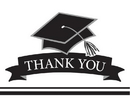 Creative Converting 320096 School Spirit White Thank You Note, CASE of 75