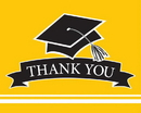 Creative Converting 320104 School Spirit Yellow Thank You Note, CASE of 75