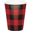 Creative Converting 321827 Buffalo Plaid Hot/Cold Cups 9Oz. (Case Of 12)