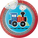 Creative Converting 322204 All Aboard Luncheon Plate, CASE of 96