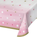 Creative Converting 322255 One Little Star - Girl Plastic Tablecover All Over Print, 54