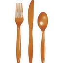 Creative Converting 323399 Pumpkin Spice Prem Cutlery Ast, CASE of 288