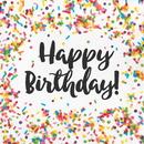 Creative Converting 324664 Sprinkles Luncheon Napkin, Happy Birthday (Case Of 12)