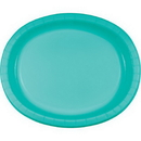 Creative Converting 324773 Teal Lagoon Oval Platter 10