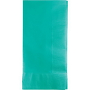 Creative Converting 324790 Teal Lagoon Dinner Napkins 2Ply 1/8Fld, CASE of 600