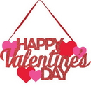 Creative Converting 328271 Valentine Décor Glitter Hanging Sign, Happy Valentine'S Day, CASE of 12