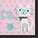 Creative Converting 328593 Purr-Fect Party Luncheon Napkin, Happy Birthday (Case Of 12)