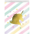 Creative Converting 329309 Unicorn Sparkle Paper Treat Bag Lg, Foil Stamp (Case Of 12)