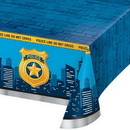 Creative Converting 329391 Police Party Plastic Tablecover All Over Print, 54
