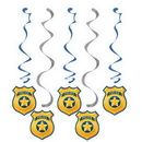 Creative Converting 329392 Police Party Dizzy Danglers Assorted, CASE of 30