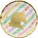 Creative Converting 329410 Unicorn Sparkle Luncheon Plate, Foil (Case Of 12)