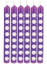 Creative Converting 329619 Décor Candles Dots, Amethyst (Case Of 6)