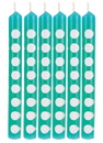 Creative Converting 329630 Décor Candles Dots, Teal Lagoon (Case Of 6)