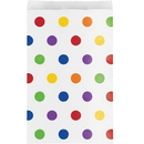 Creative Converting 329651 Décor Treat Bag, Multicolor Dots (Case Of 12)