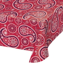 Creative Converting 329662 T/C - Red Paisley Tablecover Pl 54