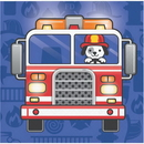 Creative Converting 331500 Flaming Fire Truck Beverage Napkin, CASE of 192