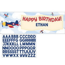 Creative Converting 332219 Lil' Flyer Airplane Giant Party Banner W/ Stck, CASE of 6