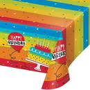 Creative Converting 332465 Hoppin' Birthday Cake Plastic Tablecover All Over Print, 54