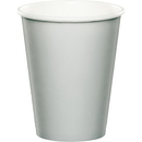 Creative Converting 332520 Shimmering Silver Hot/Cold Cups 9Oz. (Case Of 12)