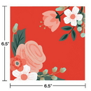 Creative Converting 332668 Modern Floral Beverage Napkin, 3 Ply Bold, CASE of 288