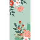 Creative Converting 332670 Modern Floral Guest Towel, 3 Ply Mint, CASE of 192