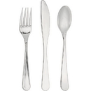 Creative Converting 334397 Silver Assorted Cutlery - Silver, CASE of 288