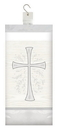 Creative Converting 335454 Divinity Silver Plastic Tablecover, 54