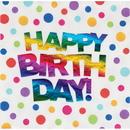 Creative Converting 335534 Rainbow Foil Luncheon Napkin, Rainbow Foil Happy Birthday (Case Of 12)